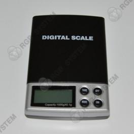 Digitální přesná váha 1000 g s modrým LCD displejem (rozlišení 0,1 g)