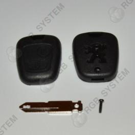 Krytka klíč PEUGEOT 2 tlačítka (Peugeot 106, 206, 306, 406)