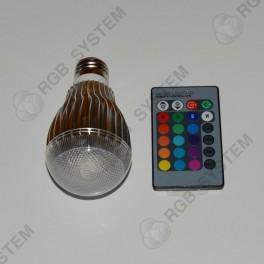 Barevná LED ŽÁROVKA 10W s dálkovým ovladačem