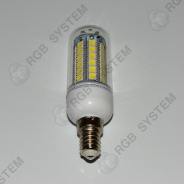 LED žárovka E14 230 V 5 W 48 LED 5050 SMD pure white (6000 - 6500 K)