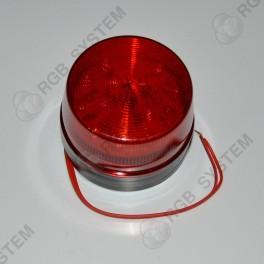 12 V LED bezpečnostní výstražné blikající světlo červené (15 LED)