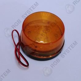 12 V LED bezpečnostní výstražné blikající světlo oranžové (15 LED)