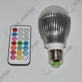 Barevná LED ŽÁROVKA 9W s dálkovým ovladačem