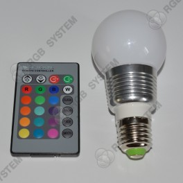 Barevná kulatá LED ŽÁROVKA s dálkovým ovladačem